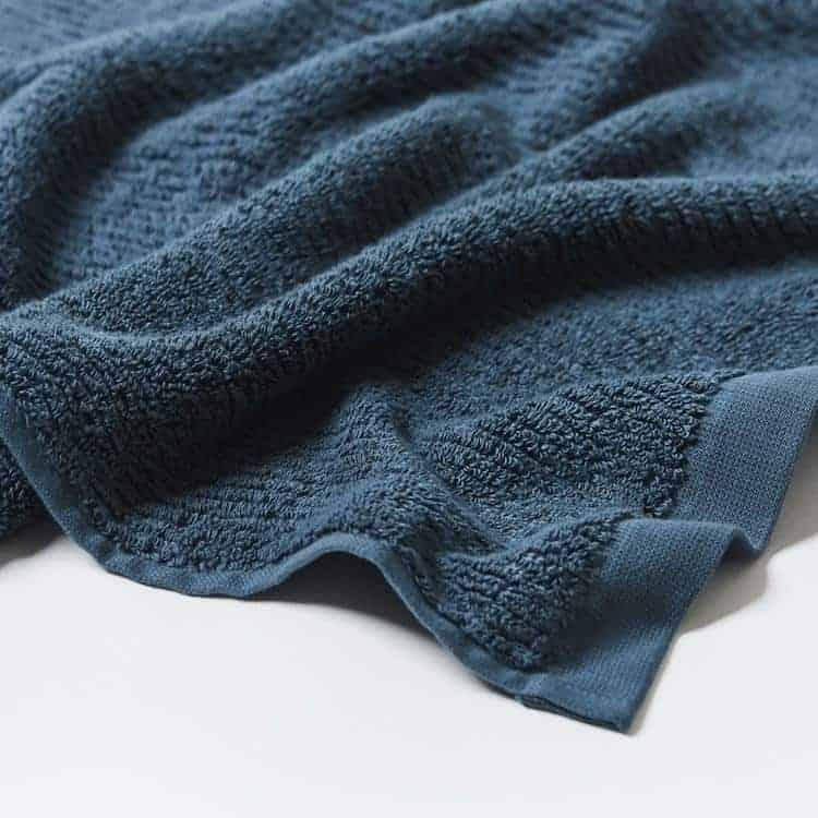 Coyuchi Temescal Organic Towel - Deep Ocean