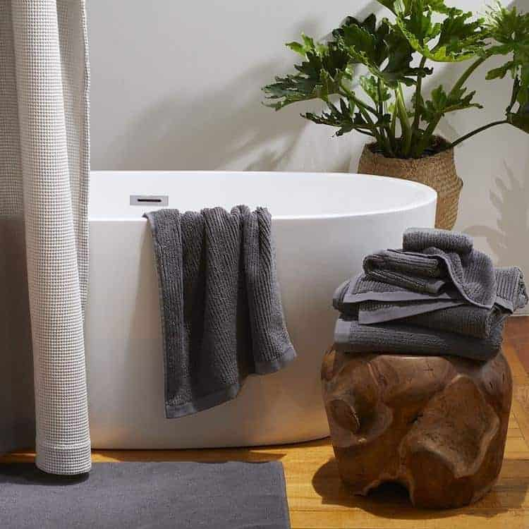 Coyuchi Temescal Organic Towel - Shadow