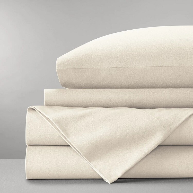 Boll & Branch Flannel Solid Sheet Set - Natural