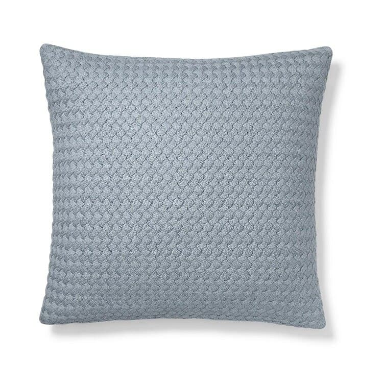 Boll & Branch Chunky Knit Decorative Pillow Cover - Heathered Shore