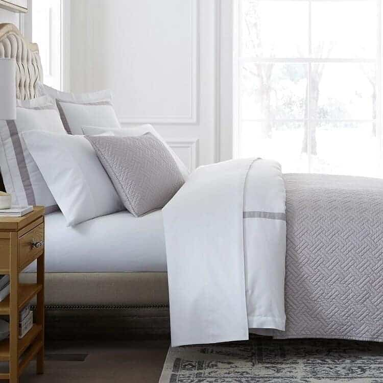 Boll & Branch Heritage Quilt Set  - Pewter