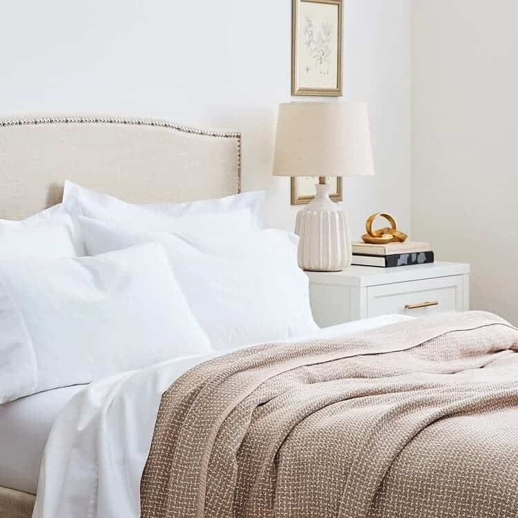 Boll & Branch The Pickstitch Bed Blanket - Dune