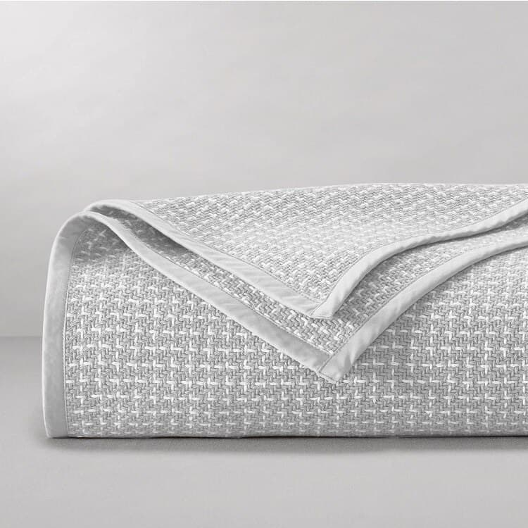 Boll & Branch The Pickstitch Bed Blanket - Pewter