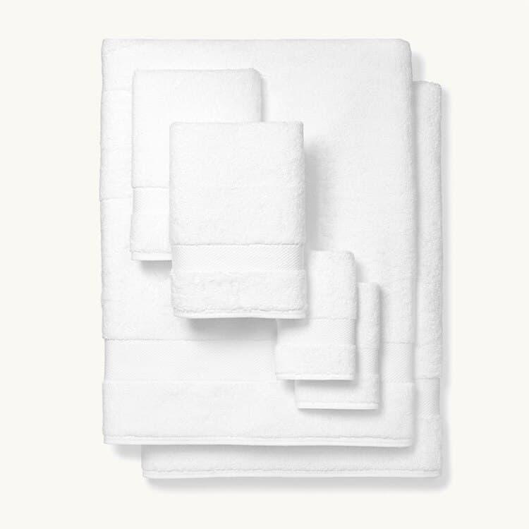 Boll & Branch Plush Bath Sheet Set - White