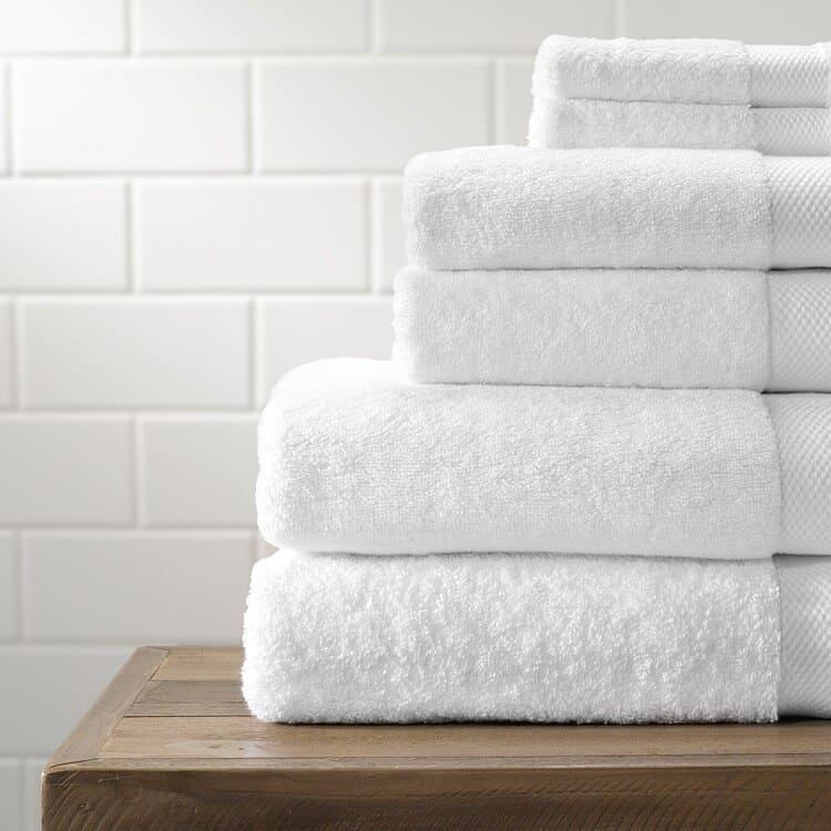 Boll & Branch Plush Bath Towel Set - White