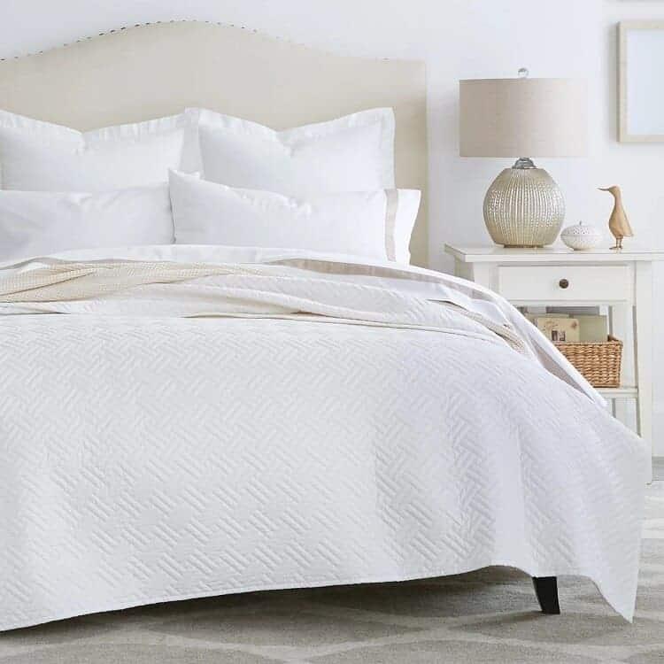 Boll & Branch Heritage Quilt Set  - White