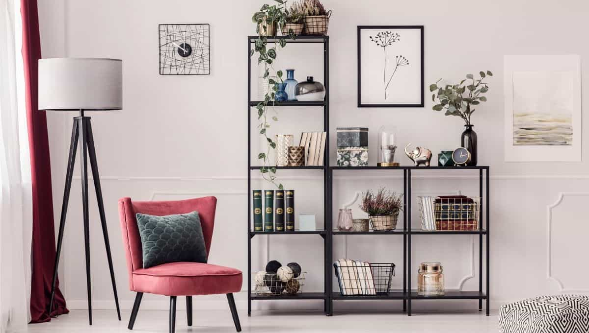 Plants decorating on shelves - EntirelyEco