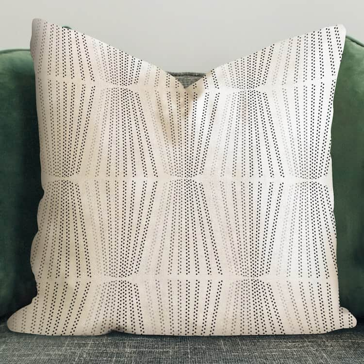 Sanus Faded Lines Gray Pillow Cover