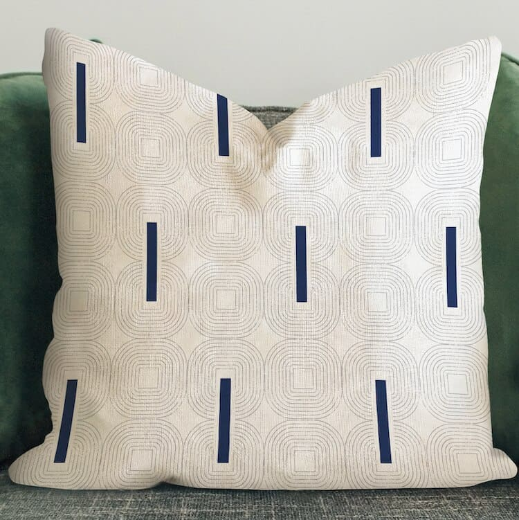 Sanus Perfectly Squared Blue Pillow Cover