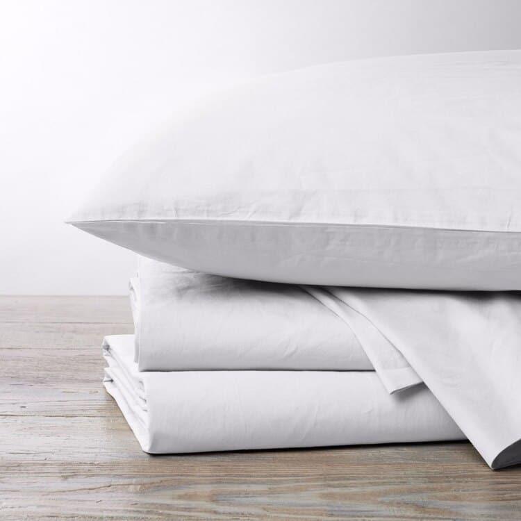 Coyuchi 300 Thread Count Organic Percale Sheets - Alpine White