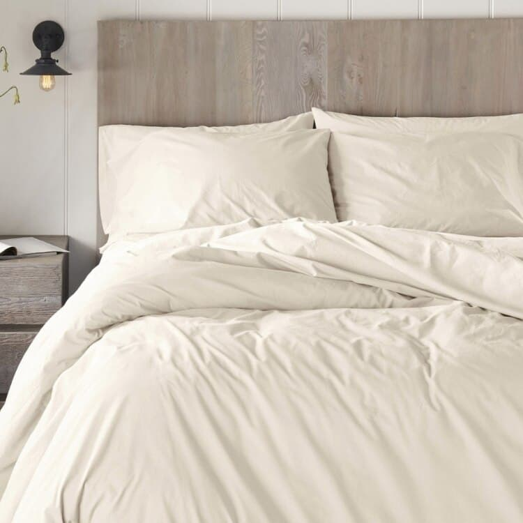 Coyuchi 300 Thread Count Organic Percale Sheets - Undyed 02