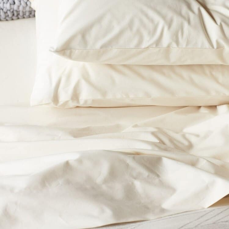 Coyuchi 300 Thread Count Organic Percale Sheets - Undyed