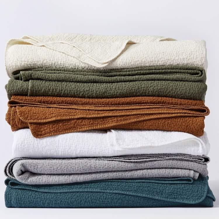 Coyuchi Cascade Organic Matelasse Blanket