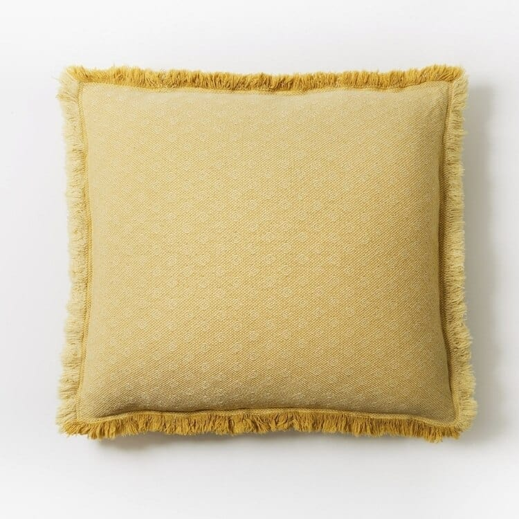 Coyuchi Loreto Organic Pillow Cover - Straw Front