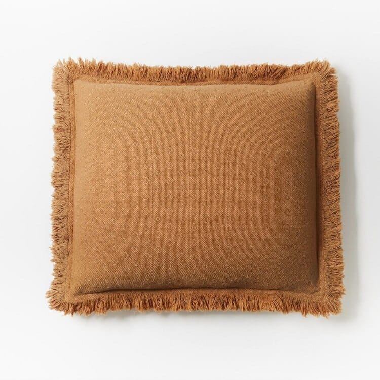 Coyuchi Loreto Organic Pillow Cover - Ginger Front