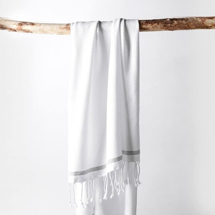Coyuchi Mediterranean Organic Towels - Alpine White