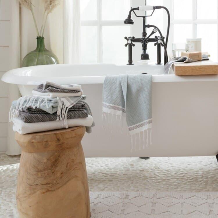 Coyuchi Mediterranean Organic Towels - Mix LS01