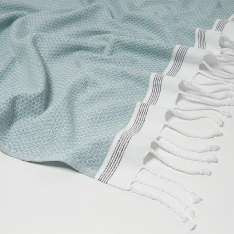 Coyuchi Mediterranean Organic Towels  - Sea Spray w Slate