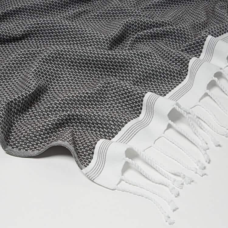 Coyuchi Mediterranean Organic Towels  - Shadow w Deep Pewter