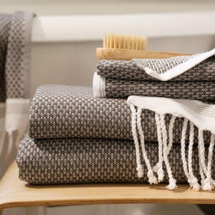 Coyuchi Mediterranean Organic Towels  - Shadow w Deep Pewter 02