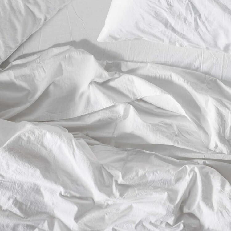 Coyuchi Organic Crinkled Percale Sheets - Alpine White