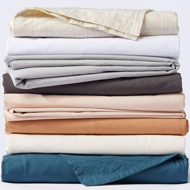 Coyuchi Organic Crinkled Percale Sheets