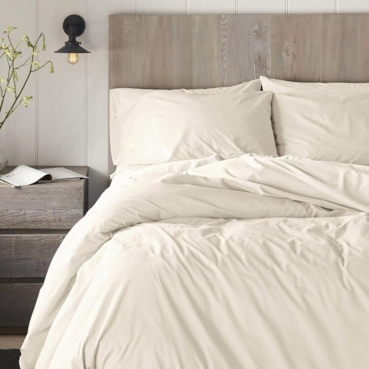 Coyuchi 300 Thread Count Organic Percale Pillowcase - Undyed