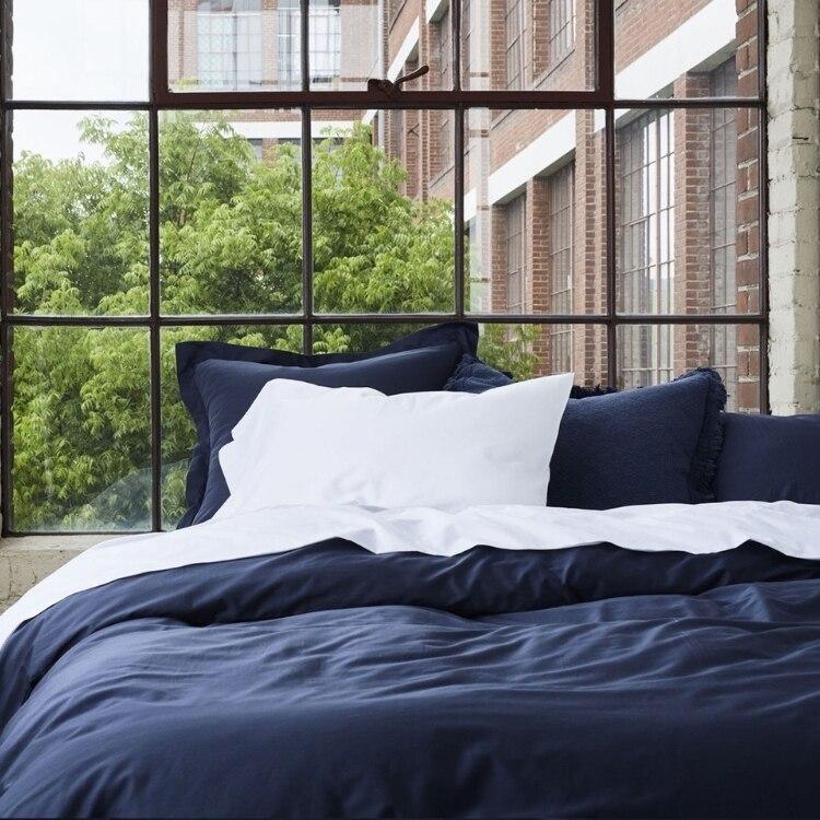 300 Thread Count Organic Sateen Pillowcase - Moonlight Blue