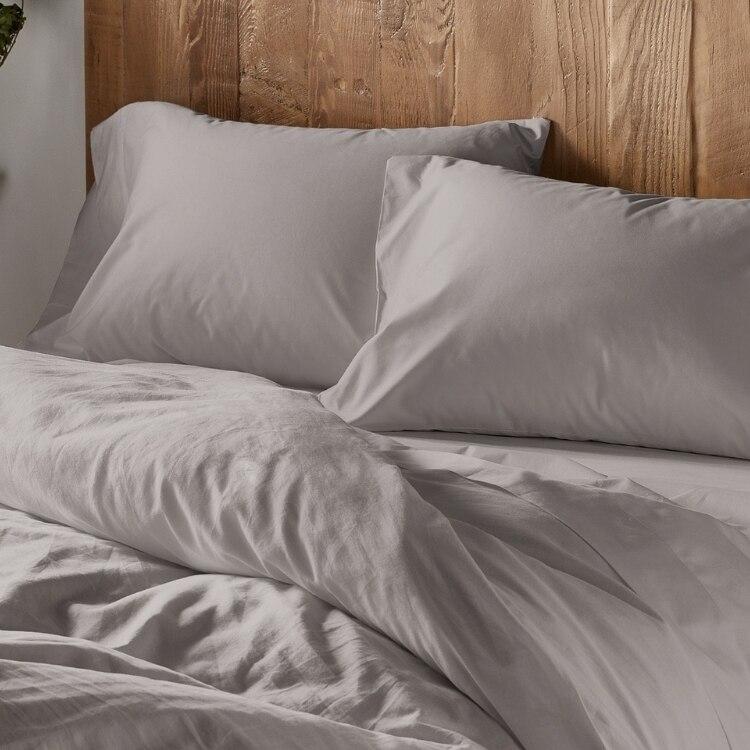 300 Thread Count Organic Sateen Pillowcase - Pale Gray