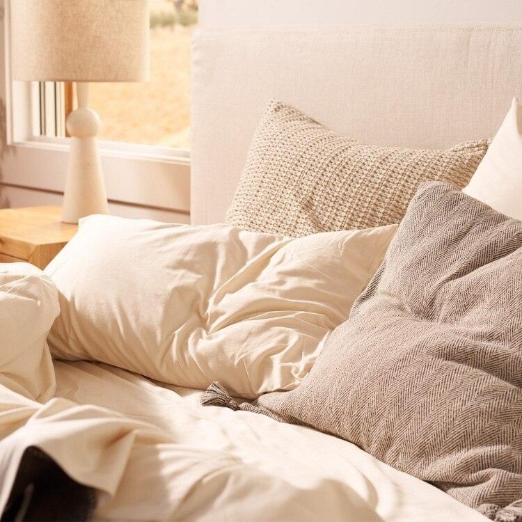 300 Thread Count Organic Sateen Pillowcase - Undyed
