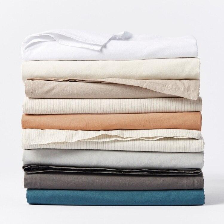Coyuchi Organic Crinkled Percale Pillowcases