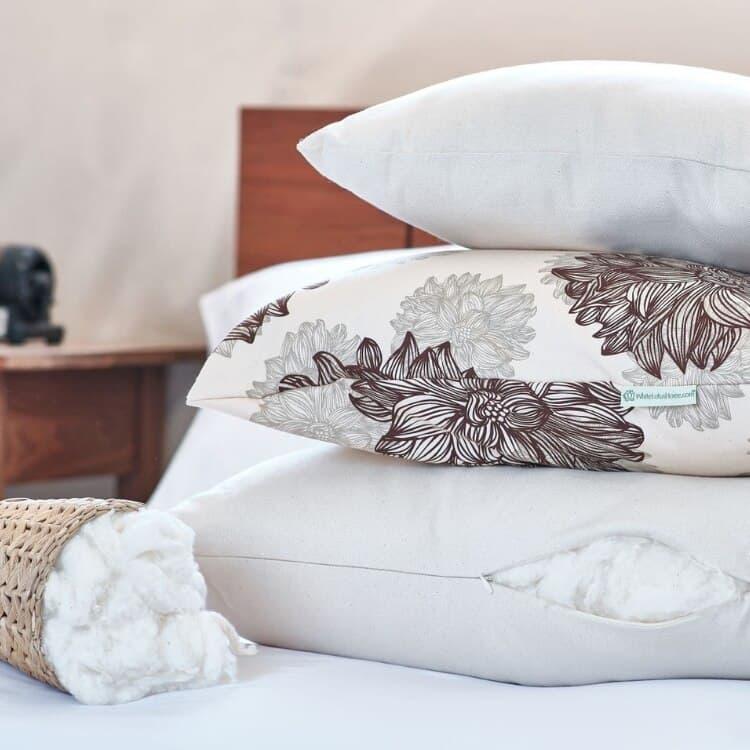 White Lotus Home Organic Cotton Decorative Pillow Inserts 01