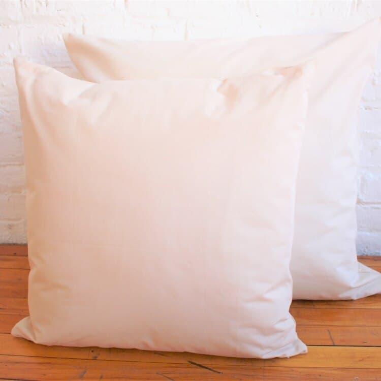 White Lotus Home Organic Cotton Decorative Pillow Inserts  04