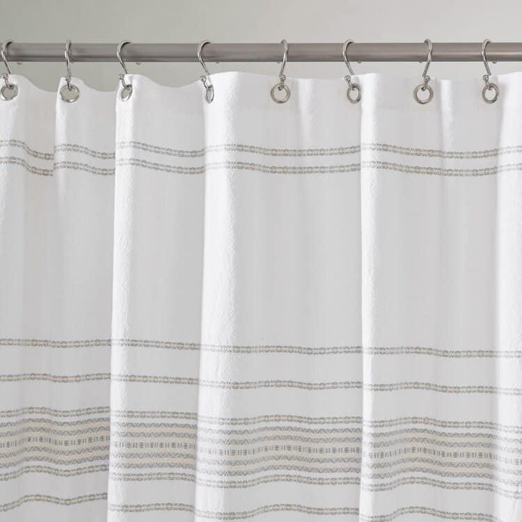Coyuchi Rippled Stripe Organic Shower Curtain 01