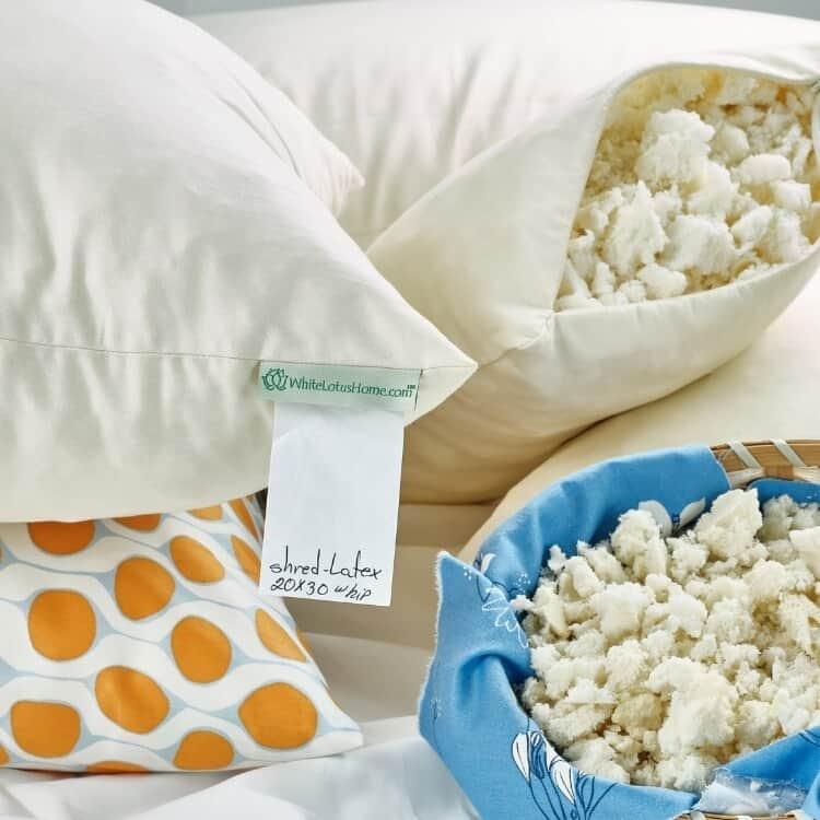 White Lotus Home Natural Shredded Latex Sleep Pillows 01