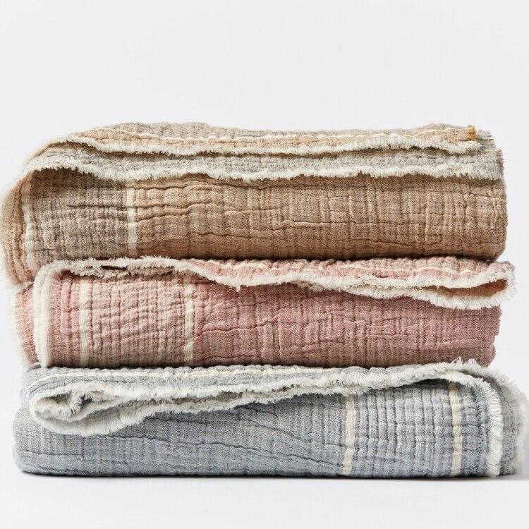 Coyuchi Topanga Organic Matelasse Blanket - All Stack