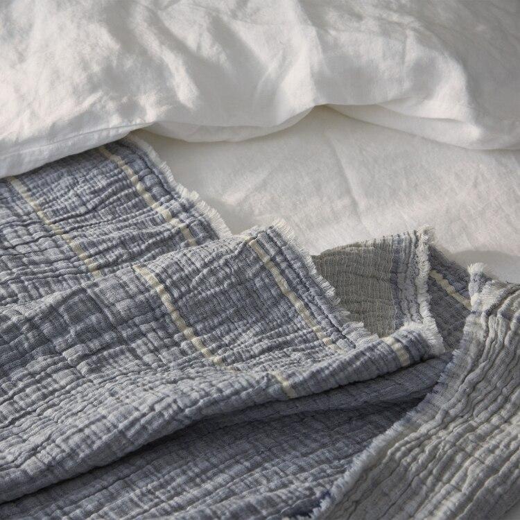 Coyuchi Topanga Organic Matelasse Blanket - Washed Indigo Chambray 02