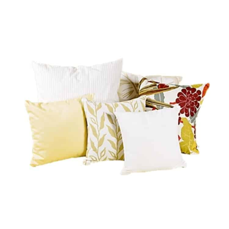 White Lotus Home Wool Decorative Pillow Inserts 04