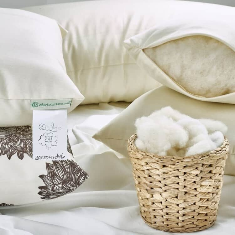 White Lotus Home Wool Decorative Pillow Inserts 02