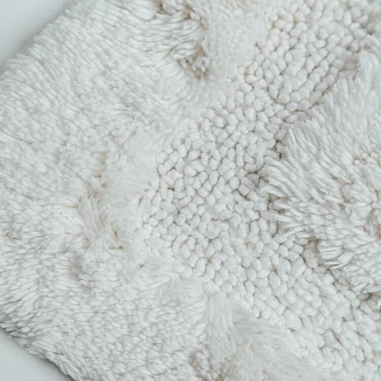 Grund Organic Cotton Bath Rugs  Asheville Collection - White