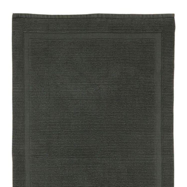 Grund Organic Cotton Bath Rugs Charleston Collection - Slate Grey