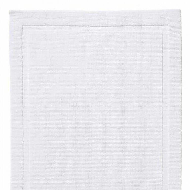 Grund Organic Cotton Bath Rugs Charleston Collection - White 02