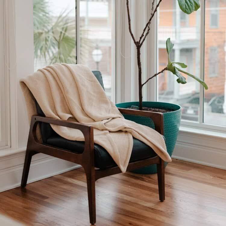Grund Sea Pines Organic Throw Blankets - Driftwood